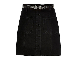 skirt black skirt belt denim skirt button up denim skirt button up skirt
