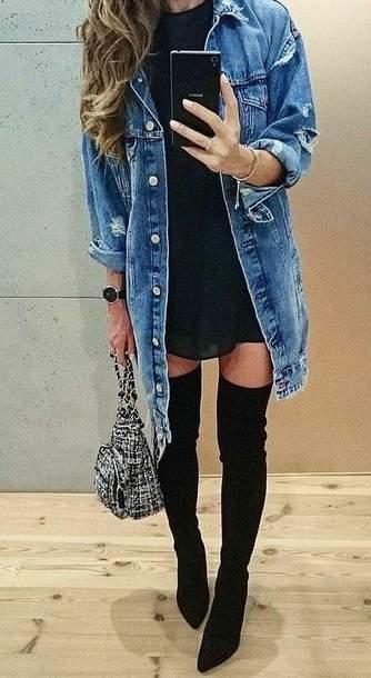 jacket grunge jean jacket