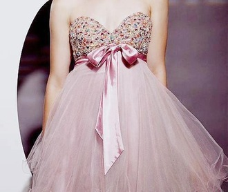 dress prom pink bow ribbon glitter we heart prom dress sequin dress