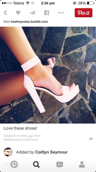 shoes white high heels
