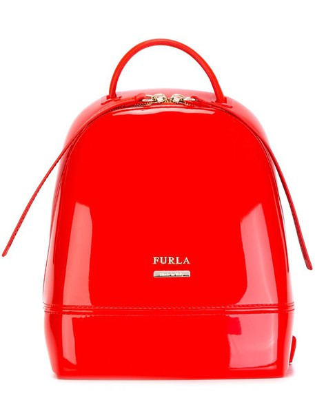 Furla backpack yellow orange bag