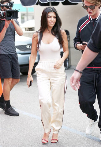 pants sweatpants top tank top kardashians keeping up with the kardashians kourtney kardashian bodysuit