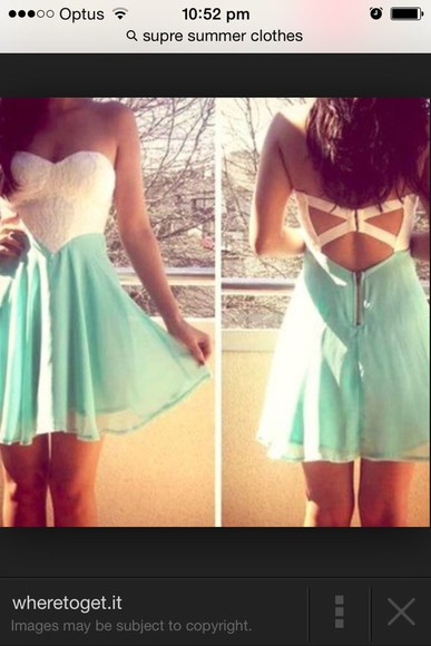 mint short dress cute!