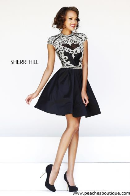 Sherri Hill Short Homecoming Dress 4300 at Peaches Boutique