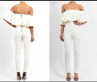 jumpsuit overalls white