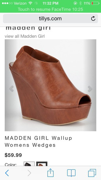 shoes brown madden girl wallups