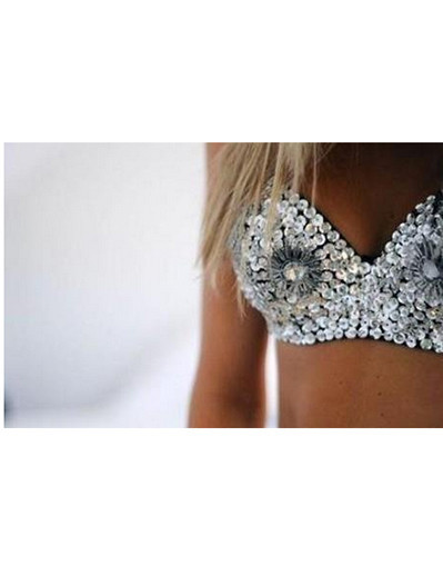 Bra top sparkly east knitting party all