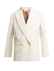 blazer,double breasted,wool,cream,jacket