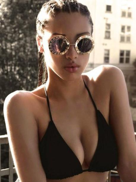 sunglasses box braids round sunglasses gold sunglasses gold