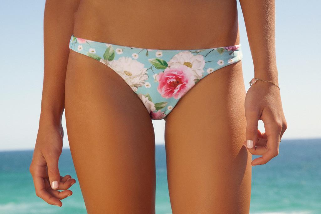 Seamless bottom in dreamtime floral – peony swimwear
