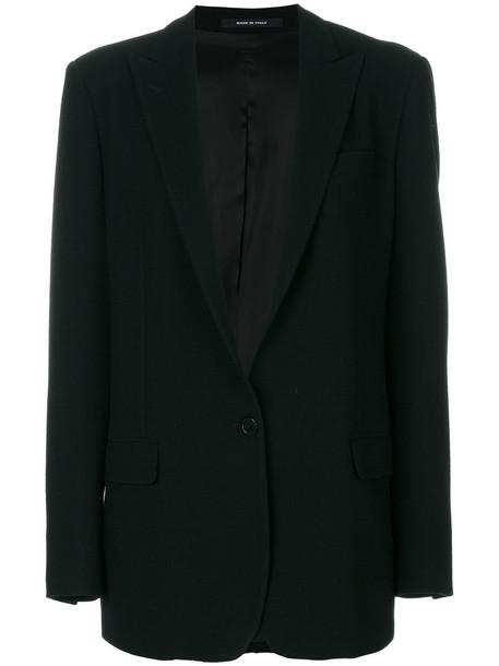 TAGLIATORE blazer women spandex black wool jacket