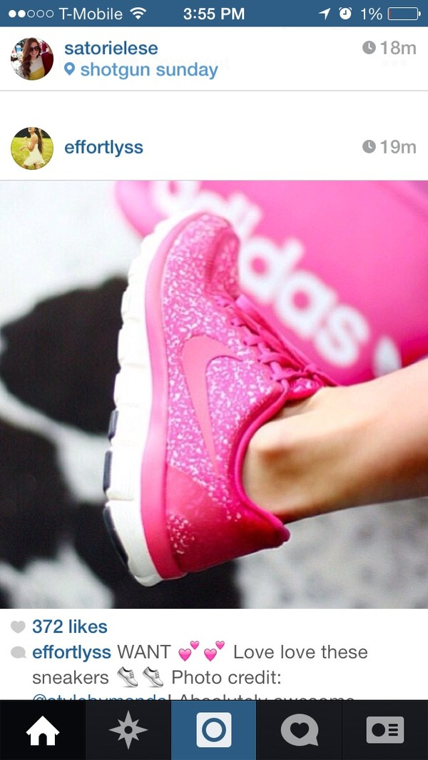 shoes nike pink sparkle