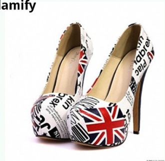 shoes british flag shoes brit flag british flag heels union jack high heels