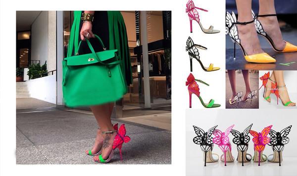 shoes sandals high heels high heel sandals butterfly sandals
