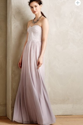 dress anthropologie strapless ombre