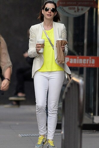 pants top blazer anne hathaway