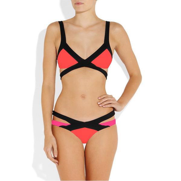 BANDAGE Candy Cutout Bandeau Bikini – Glamzelle
