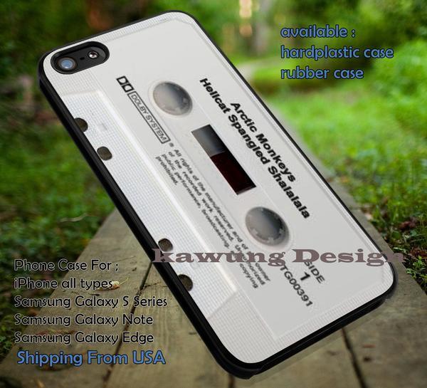 Arctic Monkeys Hellcat Spangled Shalalala Retro Cassette iPhone X 8  7 6s Cases Samsung Galaxy S8 S7 edge NOTE 8 5 4
