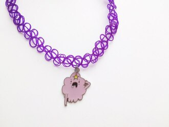 jewels choker necklace choker lumpy space princess princess adventure time