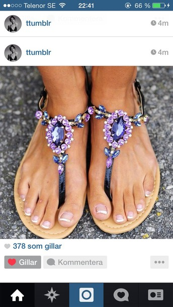 shoes pistole flower diamonds shoes purple shoes sandles purple summer sparkle bling legs fingers summer shoes fashion pretty women nails france sandals
