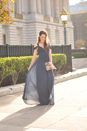 hapa time,blogger,jewels,bag,prom dress,blue,navy