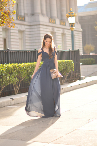 hapa time blogger jewels bag prom dress blue navy