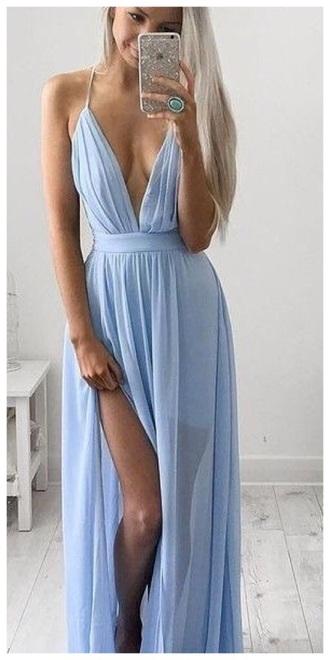 dress blue blue dress long dress long prom dress prom dress prom girly classy light blue strapless pretty beautiful love