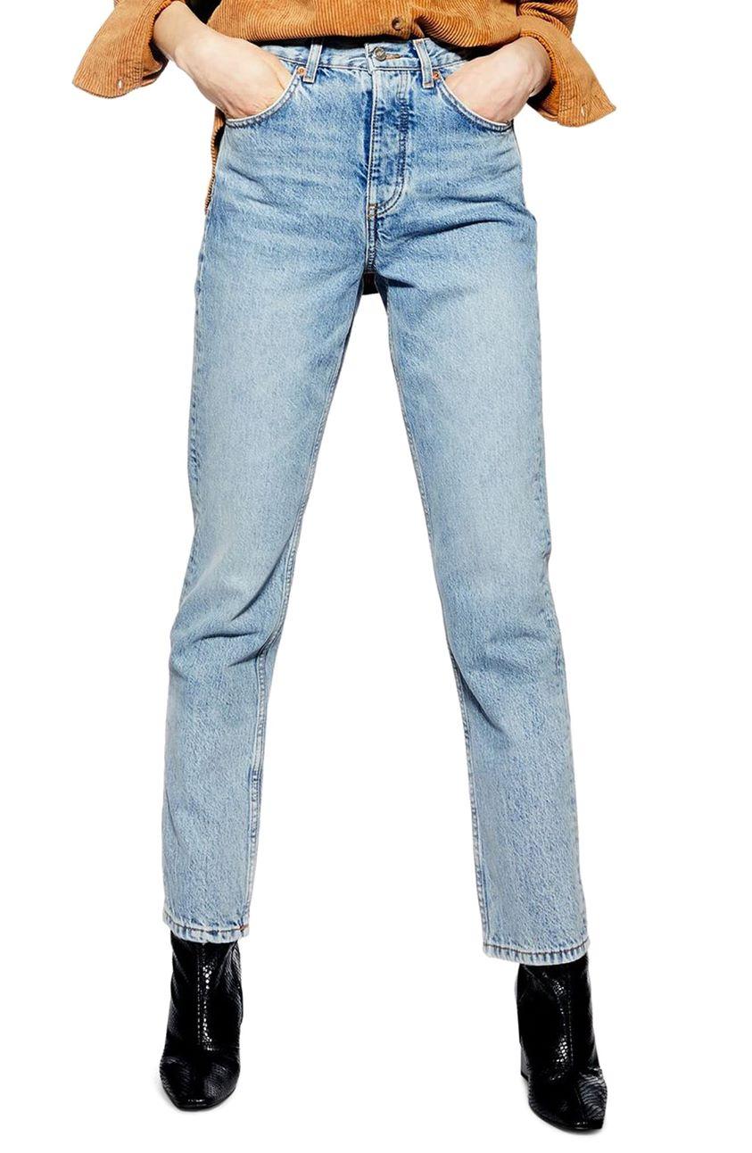 Women's Topshop Editor High Waist Jeans (Bleach)