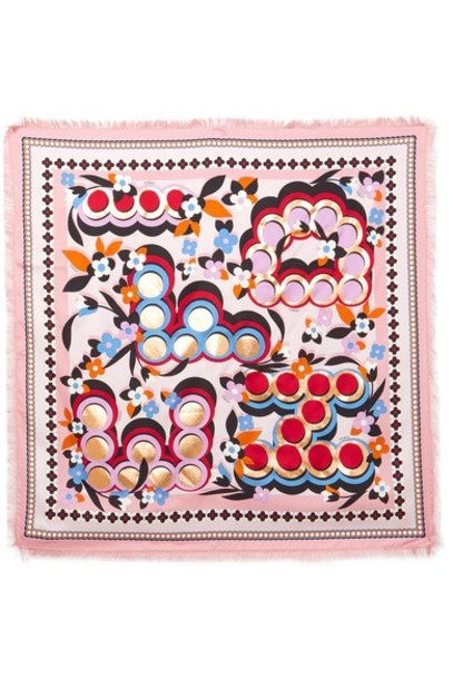 Fendi scarf silk pink