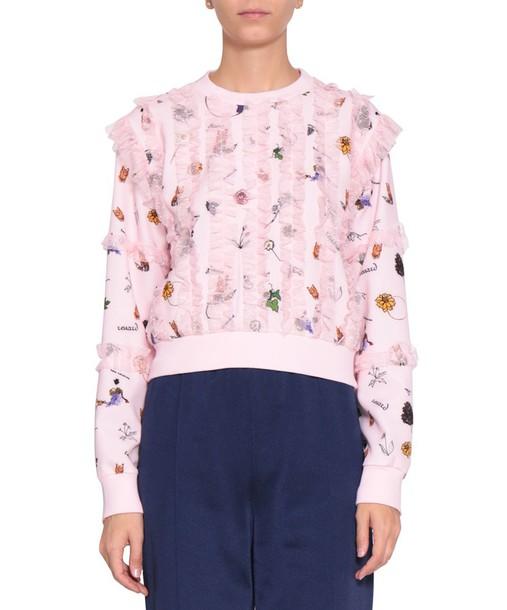 sweatshirt cropped cotton sweater