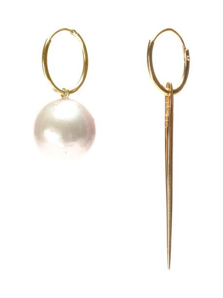pearl earrings women pearl earrings gold yellow grey metallic jewels