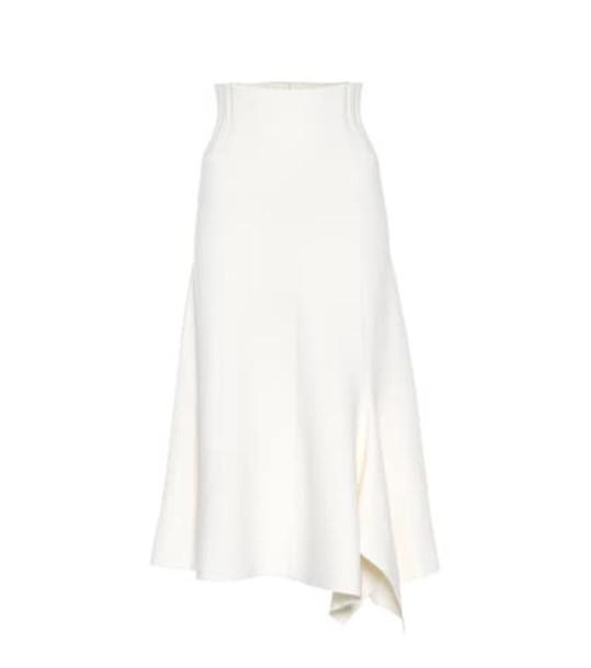 Dorothee Schumacher Poetic Drape wool-blend skirt in white