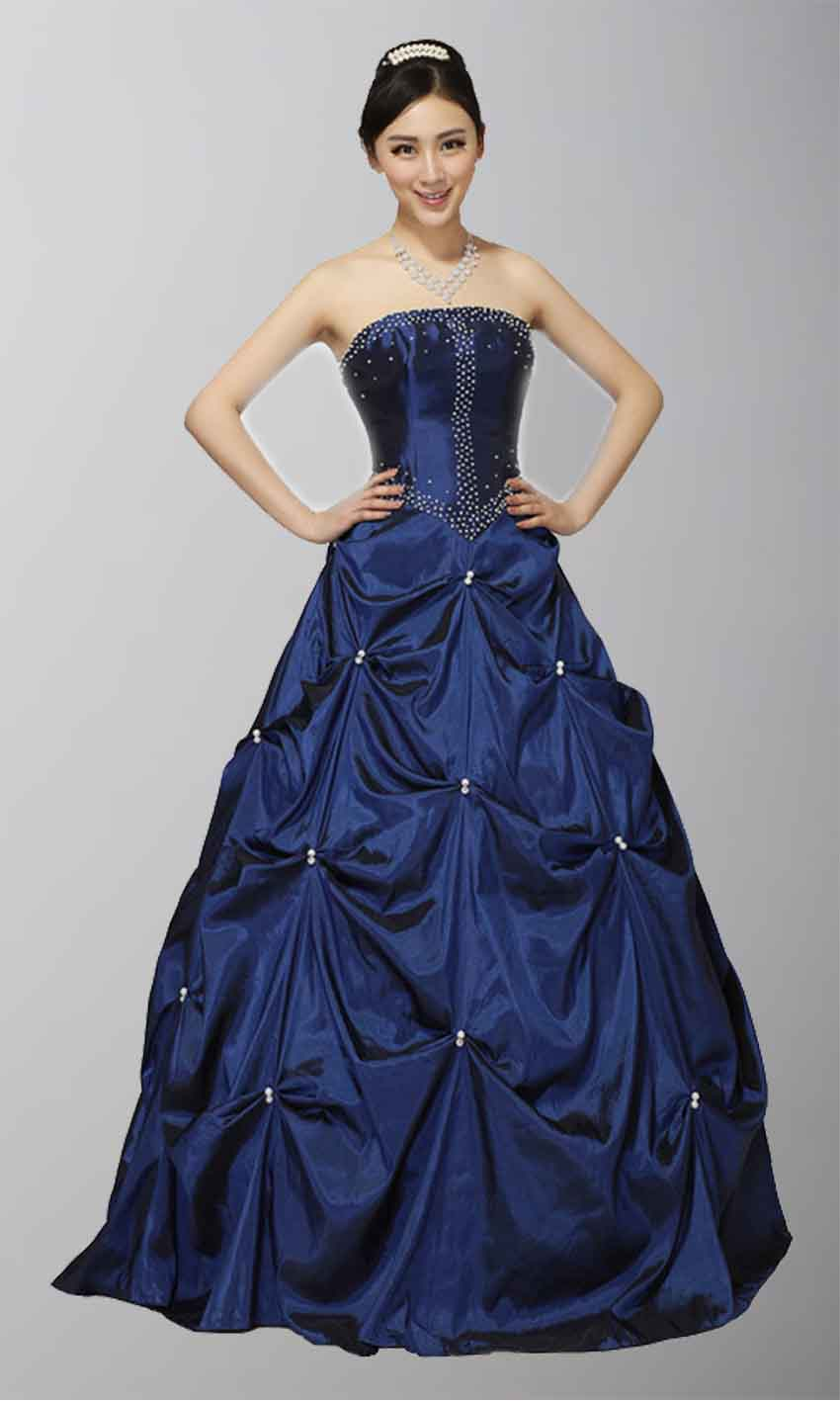 Deep Blue Gothic Style Strapless Prom Dress KSP117 [KSP117] - £118.00 : Cheap Prom Dresses Uk, Bridesmaid Dresses, 2014 Prom & Evening Dresses, Look for cheap elegant prom dresses 2014, cocktail gowns, or dresses for special occasions? kissprom.co.uk offers various bridesmaid dresses, evening dress, free shipping to UK etc.