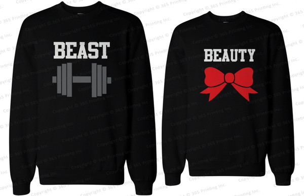 beauty and the beast beauty and the beast matching couple sweatshirts couple sweaters couple sweaters matching sweatshirts couple sweaters matching couples his and hers sweatshirts his and hers clothing matching couples couple beauty and beast matching tops beauty and beast beauty and the beast sweatshirts beauty and the beast matching couple shirts