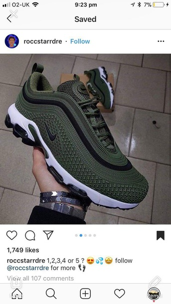 892ab6bb50a0 shoes nike air nike running shoes colorful green dark green black white  laces tick nike shoes
