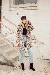 love,lenore,blogger,coat,jeans,hat,shoes,top,belt