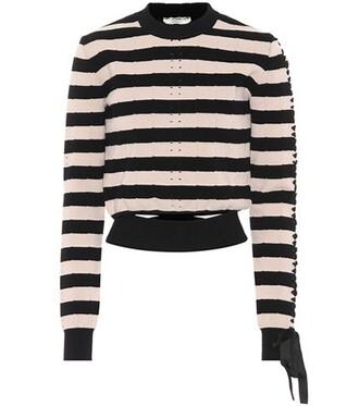sweater striped sweater black