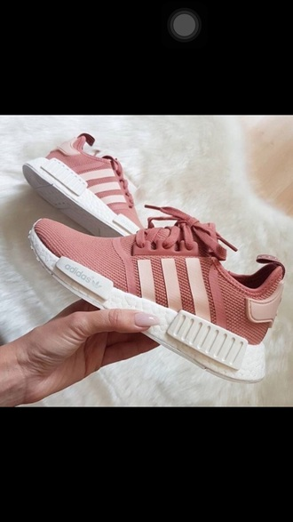 shoes adidas pink shoes cute nude.