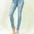 Cut my knees distressed slim skinny jeans Just USA – Pinkracks