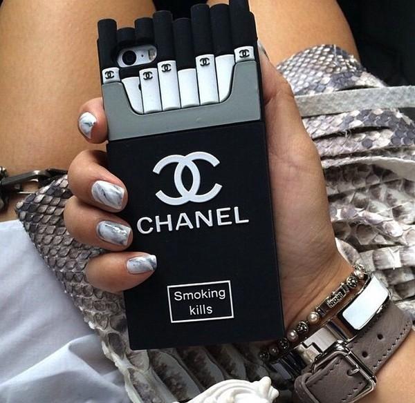 online retailer 05293 9fce4 Chanel Cigarette iPhone Smoking Kills iPhone 5/5s 6/6 PLUS Silicone Case