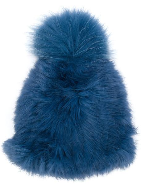 bobble hat hat blue
