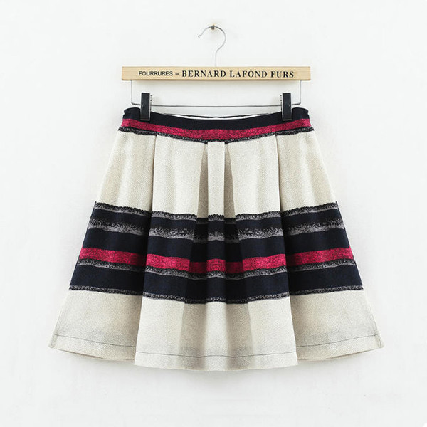striped skirt mini skirt stripes pleated skirt