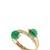 Orbita Green Quartz Ring