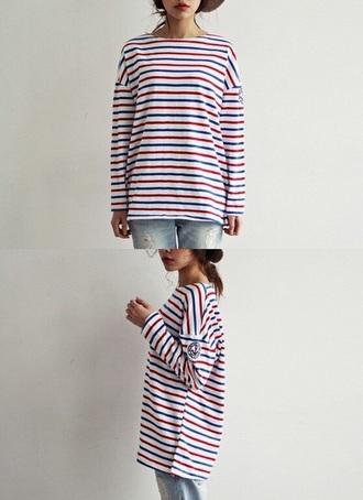 blouse striped shirt anchor shirt