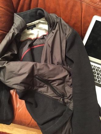 jacket sport black london menswear fleece zip burberry