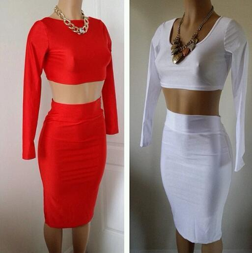 Lethalbeauty ? two piece high waist skirt set