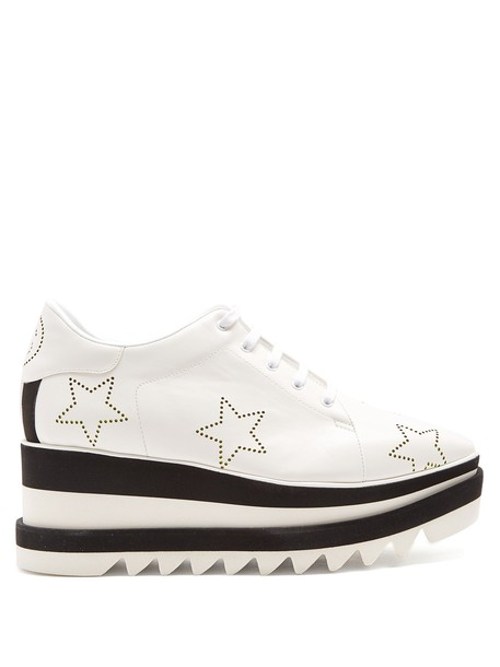 Stella McCartney shoes platform shoes lace white