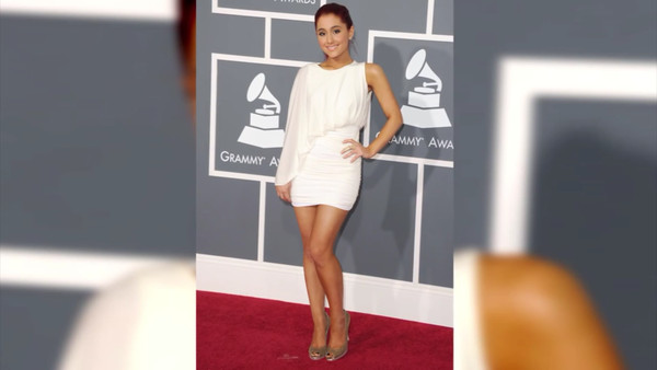 dress ariana grande red carpet cocktail dress white dress