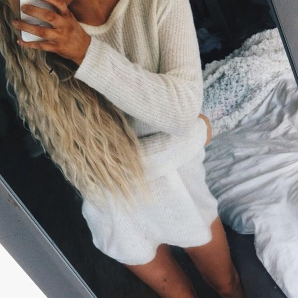 creme sweater jumper knit soft knit soft knit sweater sweater dress sweater dress knitwear knitted sweater long sweater light sweater beige top light brown sweater sweater dress