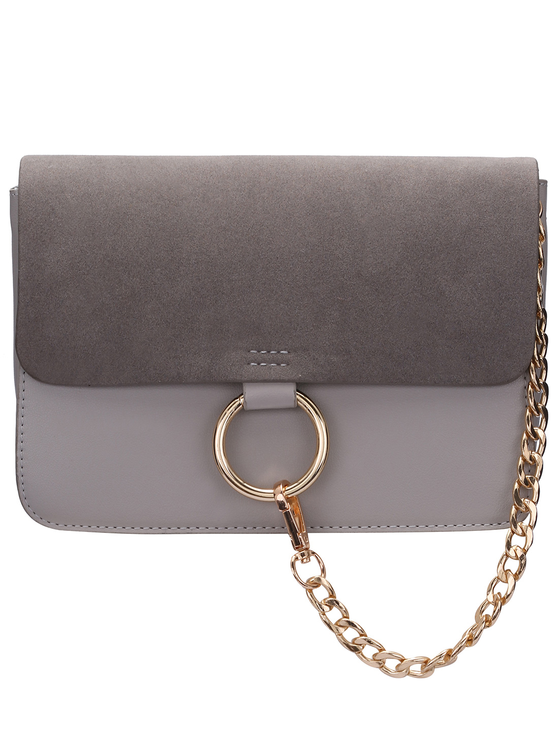 Chain Ring Embellished Satchel Bag -SheIn(Sheinside)